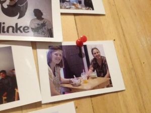 Me and Anna made Minke's photo wall where pictures of customers are displayed artistically